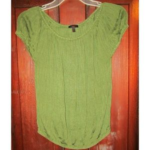 Talbots Collection S Knit Top Accordion 100% Silk